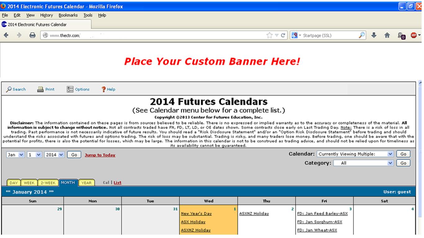 2014 E-Calendar Sample