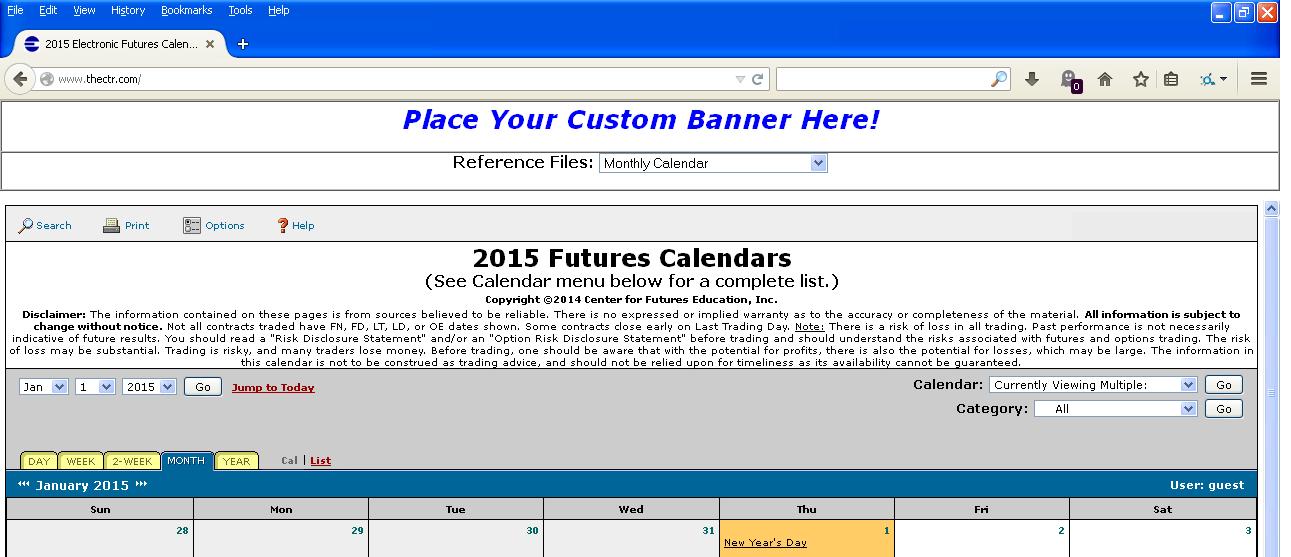 2015 E-Calendar Sample